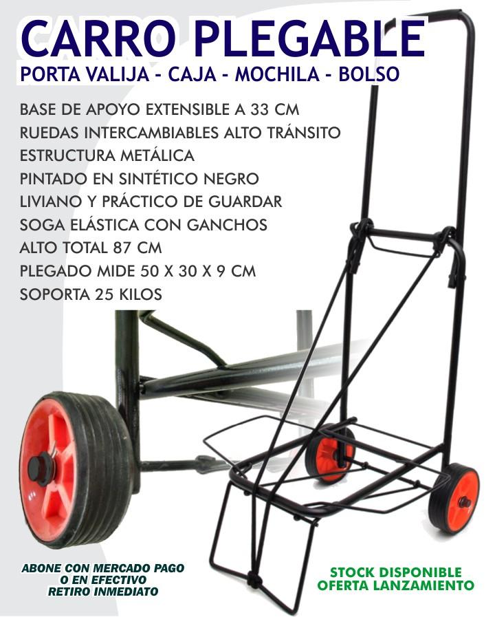 CARRO PORTAVALIJA / CAJA / BOLSO DE METAL